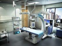 o equipamento e os dispositivos médicos na sala de operações moderna 3d rendem Fotos de Stock Royalty Free