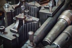 O equipamento velho da máquina-instrumento Imagem de Stock