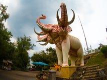 O Erawan na montanha de Khao Kho Hong, Tailândia Fotografia de Stock Royalty Free