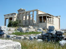 O Erecthion, Atenas Fotografia de Stock