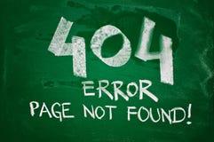 o erro 404, pagina não encontrado Imagens de Stock