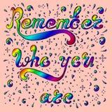 O esboço colorido recorda quem você é Ilustração do Vetor