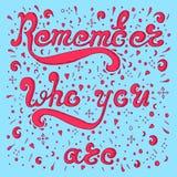 O esboço cor-de-rosa recorda quem você é Imagens de Stock