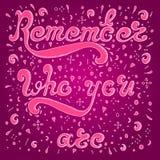 O esboço cor-de-rosa recorda quem você é Ilustração do Vetor