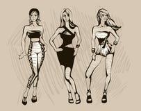 O esboço da forma fêmea ilustração royalty free