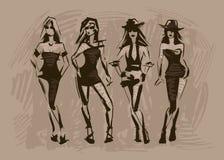 O esboço da forma fêmea ilustração stock