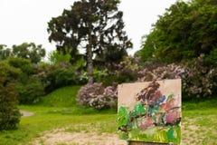 O esboço do artista de um fundo em um parque Fotografia de Stock Royalty Free