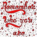 O esboço vermelho recorda quem você é Ilustração Royalty Free