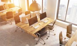 O escritório de Coworking tonificou a imagem Fotos de Stock Royalty Free