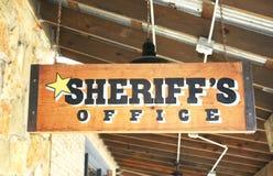 O escritório do xerife Imagens de Stock
