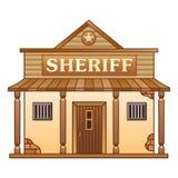 O escritório do xerife ocidental selvagem ilustração stock