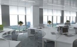 O escritório Photorealistic rende Imagem de Stock Royalty Free