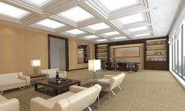 O escritório Photorealistic rende Fotografia de Stock Royalty Free