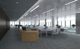 O escritório Photorealistic rende Imagens de Stock Royalty Free