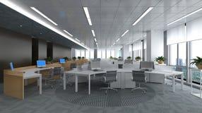 O escritório Photorealistic rende Foto de Stock Royalty Free