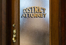O escritório do fiscal do distrito Fotografia de Stock