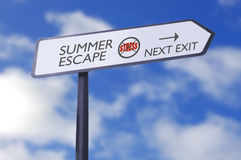 O esforço do escape do verão livra Fotografia de Stock