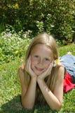 O esforço livra a criança Fotografia de Stock Royalty Free