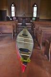O espírito e a canoa Fotos de Stock