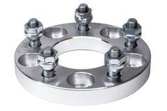 O espaçador 20mm da roda da liga clara fez pela máquina do torno do CNC Uso aumentar a distância entre o eixo dianteiro e traseir Fotografia de Stock