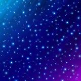 O espaço científico do universo abstrato na obscuridade - fundo azul ilustração stock