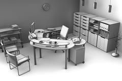 O espaço de escritórios Foto de Stock