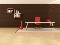O espaço de escritórios mínimo Imagens de Stock Royalty Free
