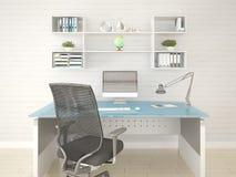 O espaço de escritórios moderno Fotografia de Stock Royalty Free