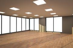 O espaço de escritórios vazio Imagens de Stock Royalty Free