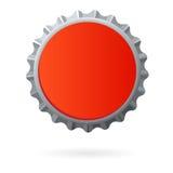 O espaço em branco vermelho do tampão de frasco isolou-se Fotografia de Stock