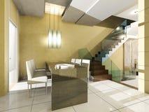 O espaço para refeições do interior do apartamento Imagens de Stock