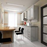 O espaço para refeições em um escritório moderno ilustração royalty free