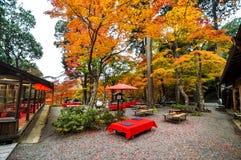 O espaço para refeições exterior em Takao, Kyoto, Japão Foto de Stock Royalty Free