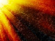 O espaço profundo dramático horizontal com sol irradia o backgr da ilustração ilustração stock