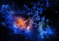 O espaço profundo estrelado nebual e galáxia Fotografia de Stock