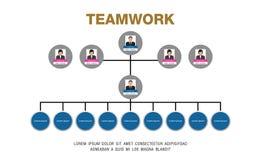O espaço temporal de Infographicsbusiness do organograma Fotografia de Stock