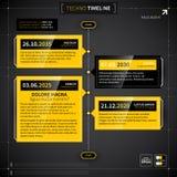 O espaço temporal do vetor no estilo do techno Imagens de Stock