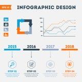O espaço temporal Infographic Imagem de Stock Royalty Free
