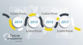O espaço temporal infographic para a apresentação do negócio ilustração stock
