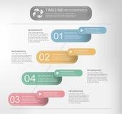 O espaço temporal Infographic, vetor Imagens de Stock Royalty Free