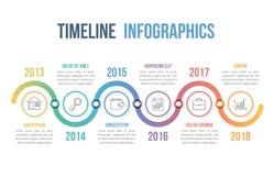 O espaço temporal Infographics Fotos de Stock