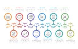 O espaço temporal Infographics ilustração stock