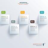 O espaço temporal quadrado de papel infographic ilustração royalty free