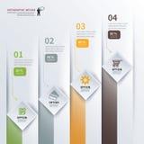 O espaço temporal quadrado de papel infographic ilustração do vetor