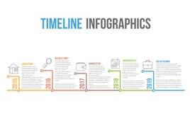 O espa?o temporal Infographics ilustração do vetor