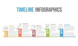 O espa?o temporal Infographics ilustração royalty free