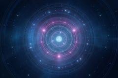 O espaço abstrato stars o fundo novo futurista da idade Imagens de Stock