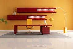 O espaço de escritórios de madeira Imagens de Stock