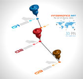 O espa?o temporal para indicar seus dados com elementos de Infographic Fotografia de Stock Royalty Free