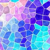 O espectro completo coloriu o fundo rochoso plástico irregular de mármore da textura do teste padrão de mosaico com grout branco  Imagens de Stock